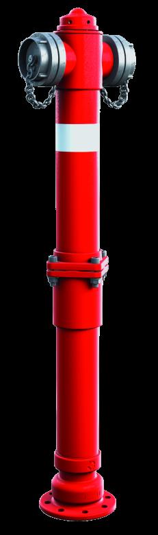 Hydrant nadziemny łamany DN80 z pojedynczym zamknięciem