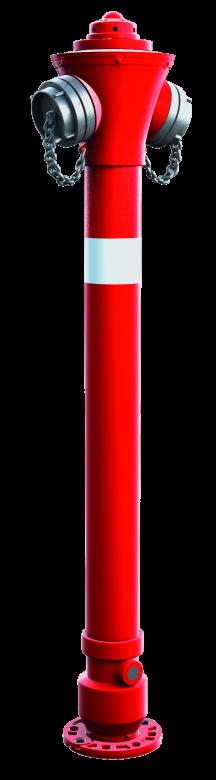 Hydrant nadziemny DN80 z pojedynczym lub podwójnym zamknięciem