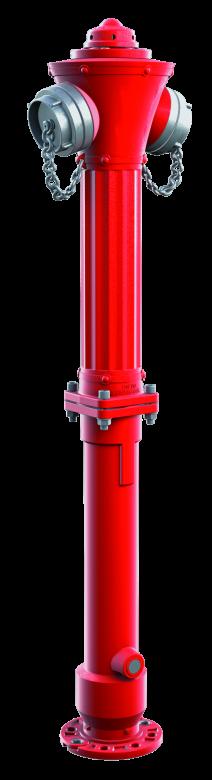 Hydrant nadziemny żeliwny łamany DN80 z pojedynczym lub podwójnym zamknięciem