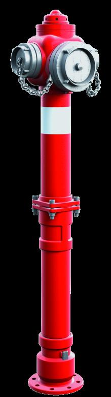 Hydrant nadziemny łamany DN100 z pojedynczym lub podwójnym zamknięciem