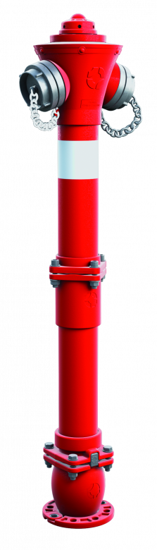 Hydrant nadziemny łamany DN80 z podwójnym zamknięciem kulowym