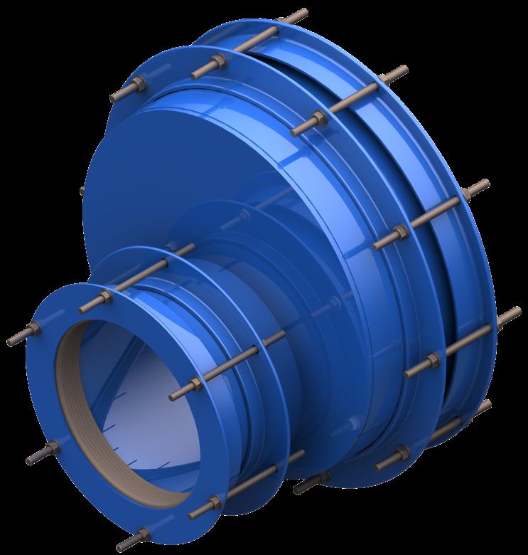 Łącznik rurowy stalowy mimośrodowy RRS-MIM