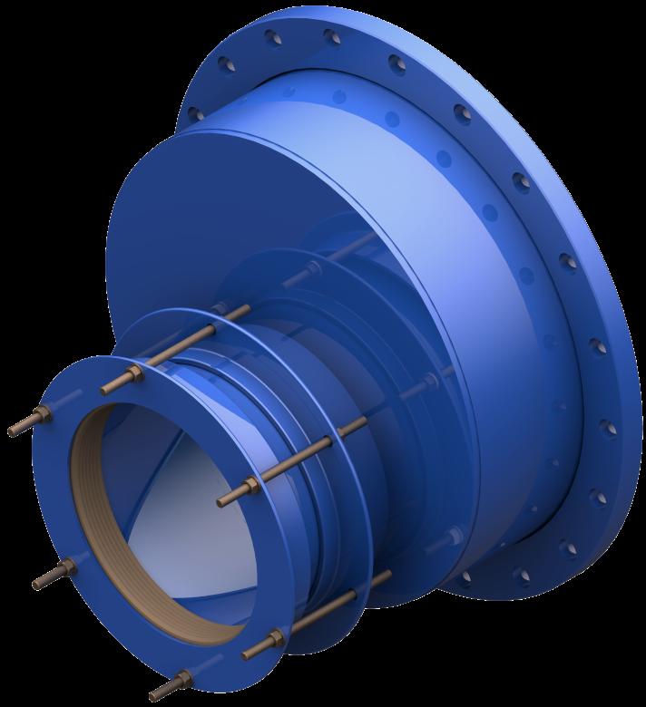 Łącznik rurowo-kołnierzowy stalowy mimośrodowy                                         RKS-MIM