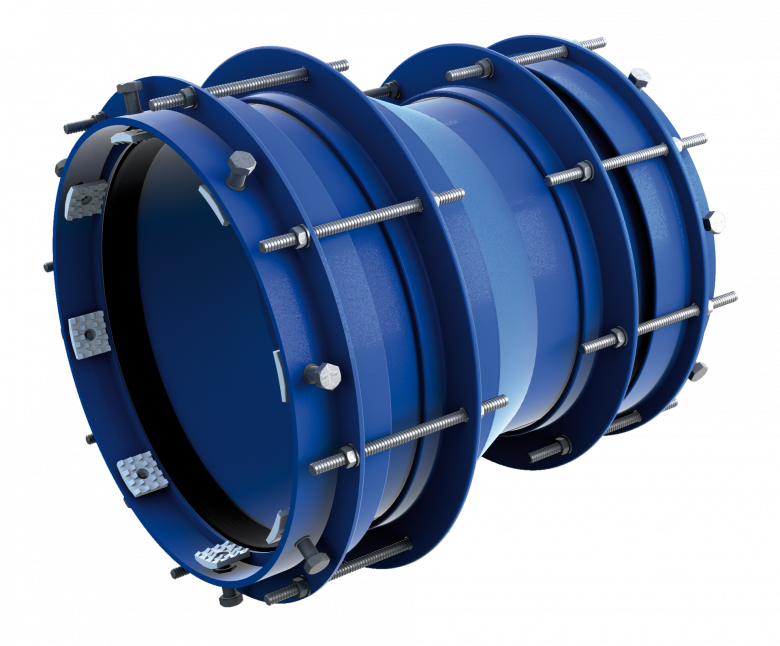 Restrained reducing pipe coupling RRS-R-E