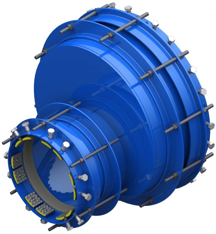 Restrained non-oncentric pipe coupling RRS-MIM-E